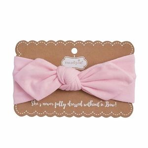 NWT Mud Pie Light Pink Knotted Headband For Baby